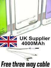 External Battery Powerbank Mobile Portable Charger 4000 mAh Lifeline Micro USB