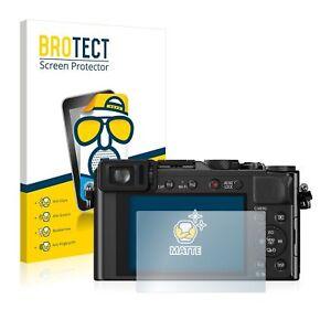 Panasonic Lumix DMC-LX100 , 2 x BROTECT® Matte Screen Protector, anti-glare
