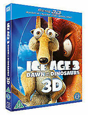 ICE AGE 3 DAWN OF THE DINOSAURS 3D (& NORMAL 2D DISC) 2 DISC BLU RAY SEALED SET.