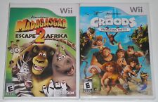 Nintendo Wii Game Lot - Madagascar Escape 2 Africa (New) The Croods (New)