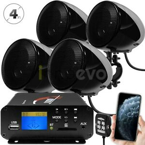 1000W Amp Bluetooth Waterproof ATV UTV RZR Polaris Stereo Speakers Audio System