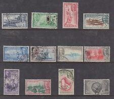 BARBADOS: 1950 KGVI definitives set of 12 SG 271/82 £75, fine postally used.