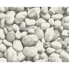 NEW AS CREATION PEBBLE STONES PATTERN PHOTO GREY VINYL MURAL WALLPAPER