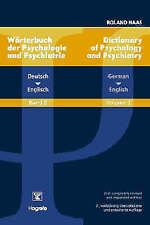 Dictionary of Psychology and Psychiatry: German-English v. 2 (Dictionary of Psyc