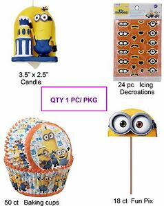 Minions Cupcake Decorating Party Supplies   7-7B