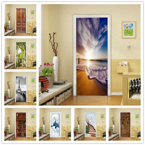 Self-Adhesive Forest Theme Door Wrap (Wall Wood Fridge) Mural Sticker Decal