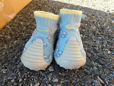 Nike play Baby Infant Walking Blue Crib Shoes Knit rubber bottoms Booties sz 2
