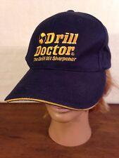 Drill Doctor Mens Blue Cotton Drill Bit Sharpener Adjustable Cap Hat