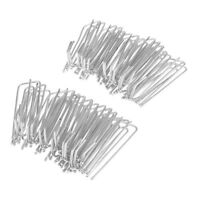 Stainless Steel Curtain Hooks - 30Pcs/Set - Prong Pinch Pleat Hanging Goblet
