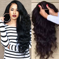Body Wave Full Wigs Pre Plucked Glueless Brazilian Human Hair 360 Lace Front Wig