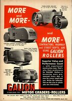 1951 Galion Iron Works Print Advertisement: Motor Rollers, All Models Pictured