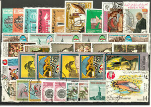 YEMEN varied group 35 stamps o from recently obtained collections