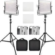 Pro 2-PACK LED Video Light Beleuchtung Videoleuchte Kameralicht mit Lichtstativ