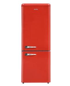 SEKOM SHCBR273SM1RF0 Réfrigérateur Combiné 258LT Static Retro Rouge Classe Pour