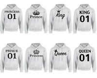 KING QUEEN PRINCE PRINCESS CROWN 01 HOODIE XXS-3XL MR MRS Couple Matching (HOOD)