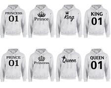 KING QUEEN PRINCE PRINCESS CROWN 01 HOODIE XXS-3XL MR MRS Couple Matching (HOOD)