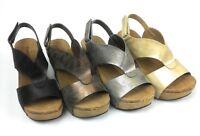 Womens Wedge Sandals Open Toe Adjustable Rear Strap Comfy Pierre Dumas Hester 6