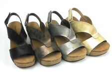 d107f86449e9 Womens Wedge Sandals Open Toe Adjustable Rear Strap Comfy Pierre Dumas  Hester 6
