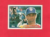 1988 Topps Big baseball #1 PAUL MOLITOR Milwaukee Brewers Hall of Fame