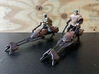 Star Wars POTF  Speeder Bike Set of 2 Luke & Leia Endor loose