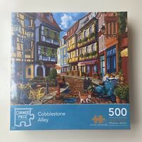 Cobblestone Alley 500 Piece Jigsaw Puzzle NEW FREE SHIPPING Beautiful Colourful