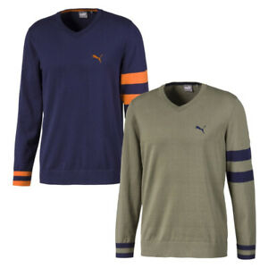 Puma Golf X V-Neck Sweater Cotton Blend Choose Color and Size Style 596812