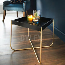 Tray Table Gold Legs & Black Tray Coffee Table With Removable Tray Top