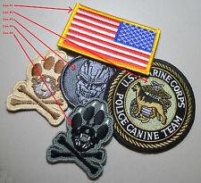 DAESH WHACKER US ADVISERS vêlkrö 2-ITEM: US Flag + CANINE K-9 item #1 & #2 only