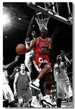 0861D Michael Jordan Dunks Basketball Sports-Print Art Silk Poster