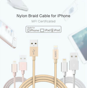 1 METRE Braided Cable Fast Charging & Sync COILED Black FOR USB iPHONE IPAD iPod