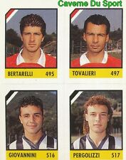 115 BERTARELLI - TOVALIERI - PERGOLIZZI CARD CARTA CALCIO QUIZ VALLARDI 1991