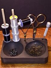 HARELINE DUBBIN HOOK AND BEAD BOWL CADDY. FLY TYING BENCH TOOL. NEW
