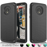 For Motorola Moto G6 / Moto G 6th Gen Shockproof Bumpr Rubber Hard Plastic Case