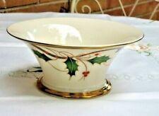 Lenox Holiday Nouveau Ivory Porcelain Bon Bon Gold Accents