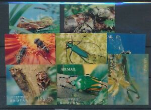 [320078] Bhutan 1969 insects good set very fine MNH hologram stamps