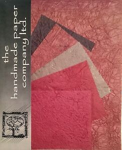 20 Sheets Mulberry Paper in 2 Sizes /Scrap Book/Decoupage/Art/Craft *Burgundy