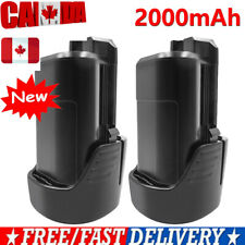 2× Lithium-Ion 12V 2.0Ah Battery for Bosch BAT411 BAT411A BAT412A 2 607 336 014