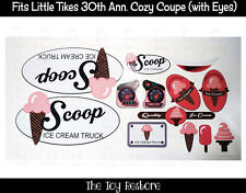 New Replacement Decals Sticker fits Little Tikes 30th Cozy Coupe Ice Cream Truck