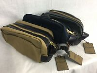 NEW FILSON TRAVEL KIT TAN GREEN NAVY TWILL LEATHER 70218 CASE BAG FREE SHIP