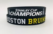 BOSTON BRUINS STANLEY CUP 2010 Champions Bracelet Wristband Banner Ring