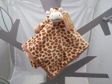 Dinnglisar doudou girafe velours écru marron