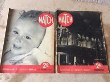 Lot 2 Ancienne revue MATCH novembre 1938