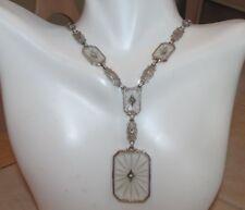 Antique 14k camphor filagree necklace 19.6 grams