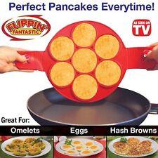HOT! Non Stick Flippin' Fantastic Nonstick Pancake Maker Eggs Ring Maker Kitchen