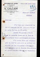 """DREUX (28) EPICERIE & CAVE DU VIN NATUREL """"A. LALLIER"""" en 1933"""