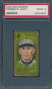 1911 T205 Thomas W Leach Sovereign PSA 2 *OBGcards*