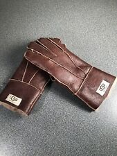 Ugg Australla Mens Brown Leather Gloves Sz.M