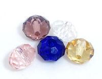 100 Kristall Glasperlen Böhmische Schliffperlen Facettiert Beads 6mm