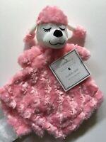 Manhattan Kids Baby Pink Poodle Rosette Plush Cuddly Pal Security Blanket