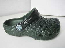 Crocs crocskin classic kids grün C 6 7 Gr. 23 24 sandals clog forest green